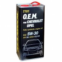 7701 OEM for Chevrolet Opel 5W-30 SN/CF 4л.METALL